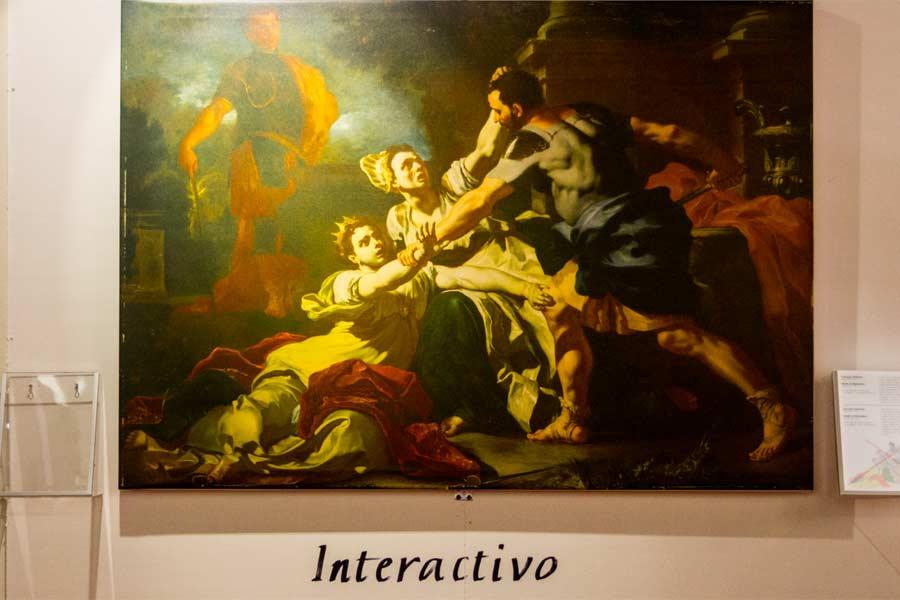 Interactivo, immagine in secondo piano evidenzata