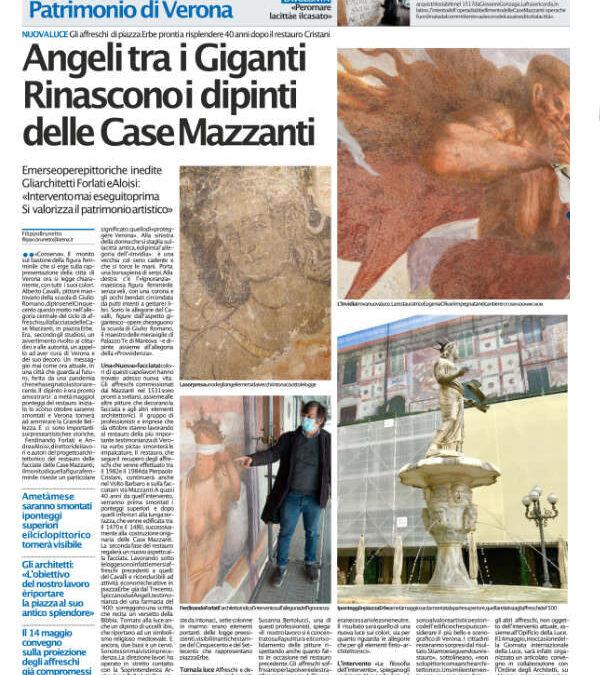 Angeli tra i Giganti. Rinascono i dipinti delle case Mazzanti